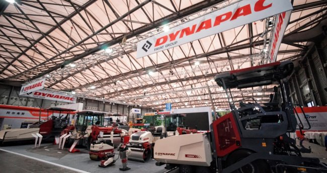 A splendid return of Dynapac in bauma China