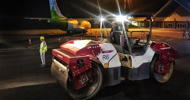 Dynapac compaction and paving equipment at Bauerfield International Airport