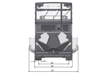 Blueprint top view Dynapac MF2500CS