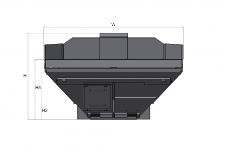 Blueprint top view Dynapac MH2500