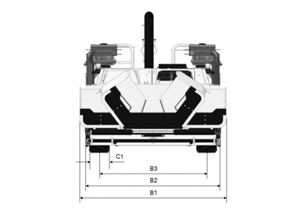 Blueprint top view Dynapac F1000T (T4)