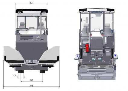 Blueprint top view Dynapac F1800C
