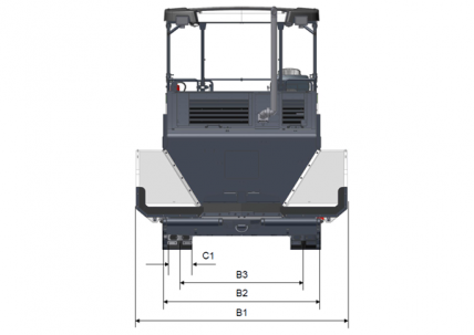 Blueprint top view Dynapac F2500C