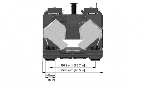 Blueprint top view Dynapac F800T