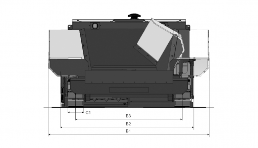 Blueprint top view Dynapac FC1300C II