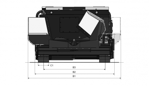 Blueprint top view Dynapac FC1700C