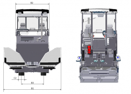 Blueprint top view Dynapac SD1800C