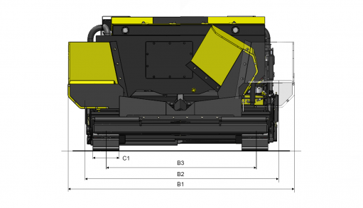 Blueprint top view Dynapac FC1600C