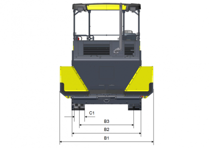 Blueprint top view Dynapac SD2550CS