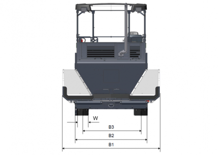 Blueprint top view Dynapac F2500WS