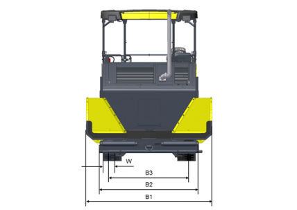 Blueprint top view Dynapac F2500W