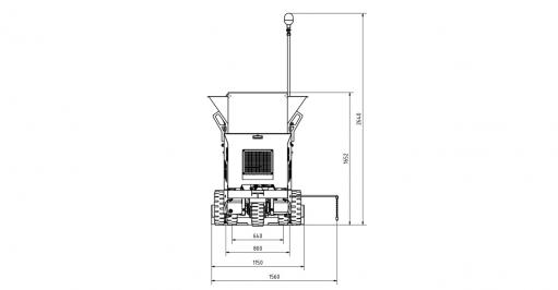 Blueprint top view Dynapac F80W