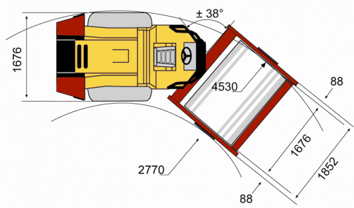 Blueprint top view CA152D