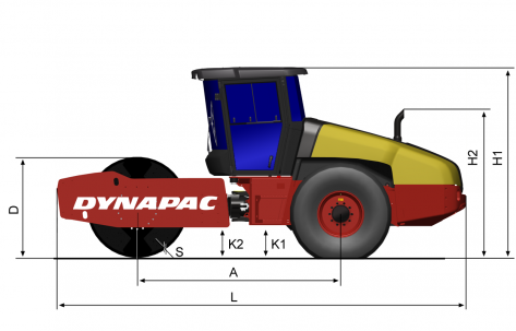 Blueprint side view CA2500D