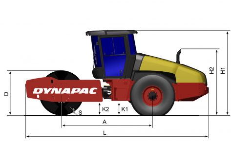 Blueprint side view CA4000D