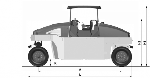 Blueprint side view Dynapac CP275