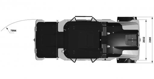Blueprint top view Dynapac CP2100W