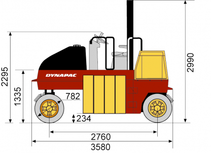 Blueprint side view CP142