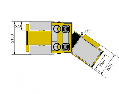 Blueprint top view Dynapac CS1400