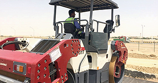 Dynapacs help roll out key Kuwait roads